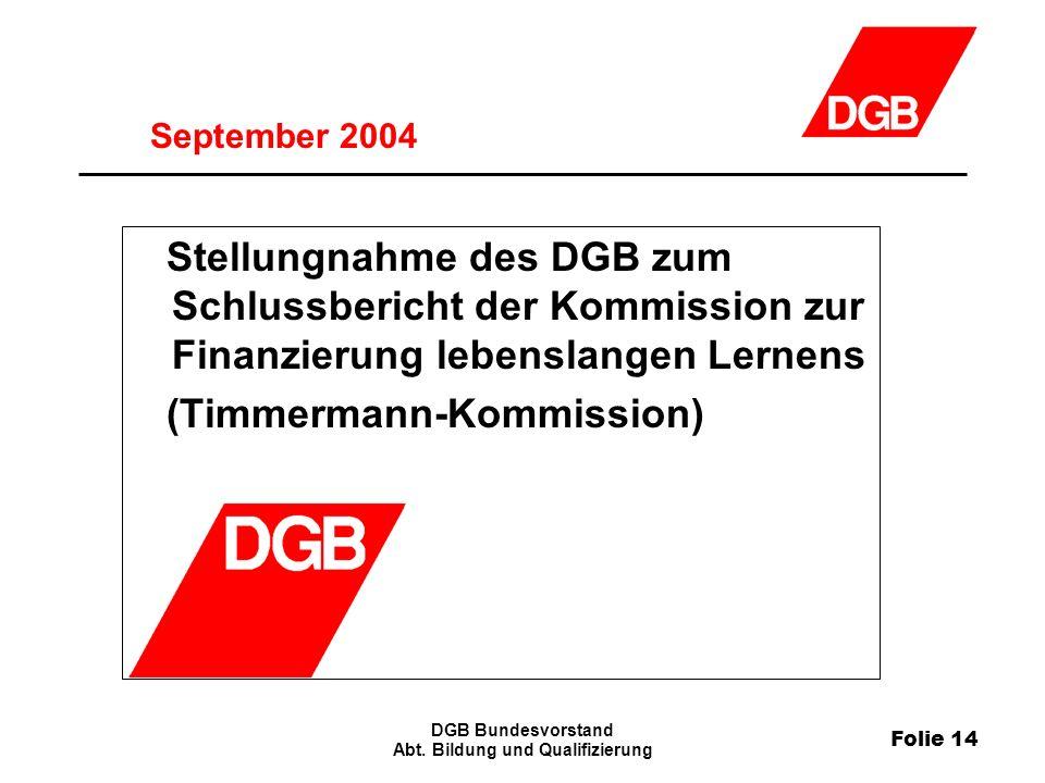 Folie 14 DGB Bundesvorstand Abt.