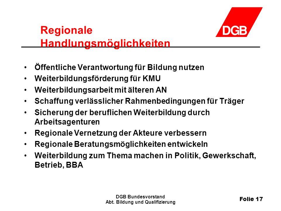 Folie 17 DGB Bundesvorstand Abt.