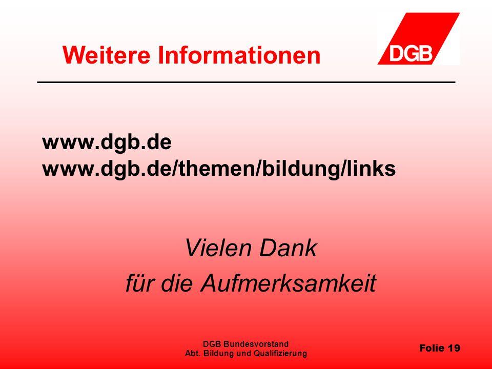 Folie 19 DGB Bundesvorstand Abt.