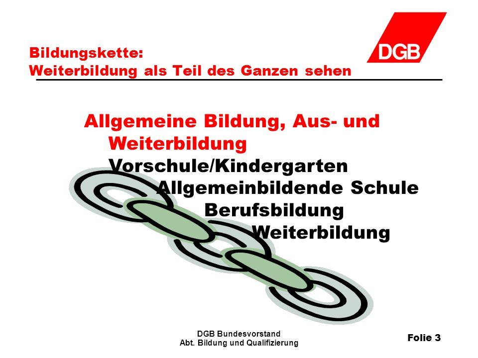 Folie 3 DGB Bundesvorstand Abt.