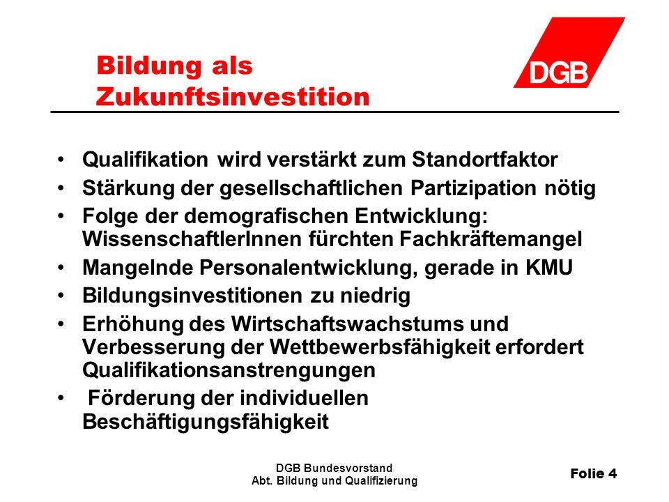 Folie 4 DGB Bundesvorstand Abt.