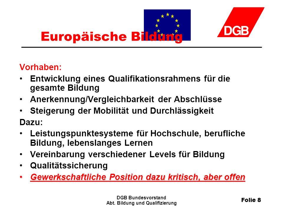 Folie 8 DGB Bundesvorstand Abt.