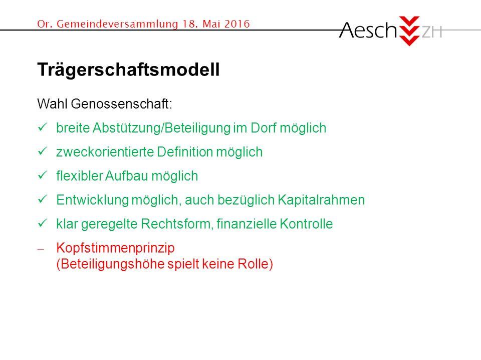 Or. Gemeindeversammlung 18.