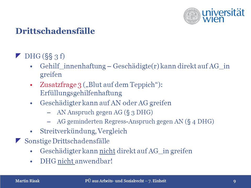 Martin RisakPÜ aus Arbeits- und Sozialrecht – 7.