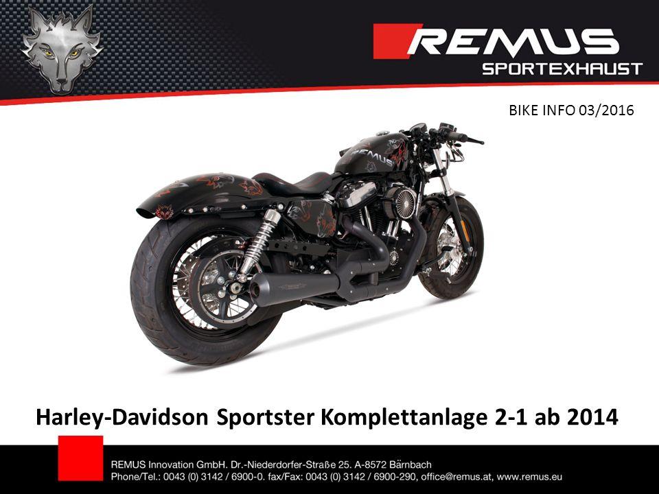 Harley-Davidson Sportster Komplettanlage 2-1 ab 2014 BIKE INFO 03/2016