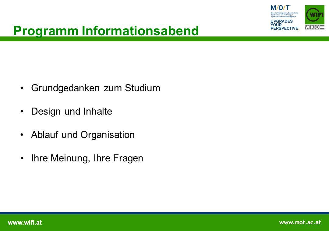www.wifi.at www.mot.ac.at Wissenschaftliche Leitung/ Produktmanagement Wissenschaftliche Leitung Prof.