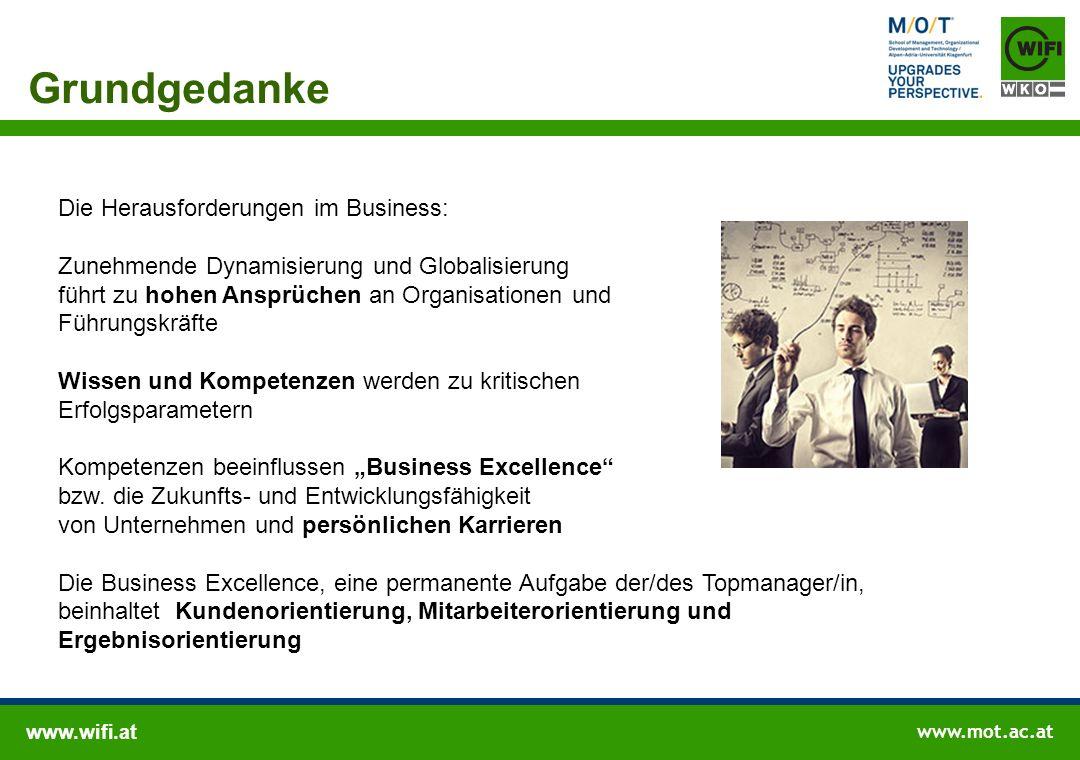 www.wifi.at www.mot.ac.at Grundgedanke Die Herausforderungen im Business: Zunehmende Dynamisierung und Globalisierung führt zu hohen Ansprüchen an Org