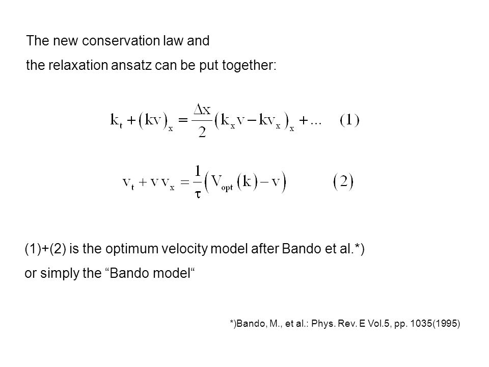 Special Case τ →0 (cont'd) Scaling of x, t ansatz gives eigenvalue equation = 0 Stability i.e.