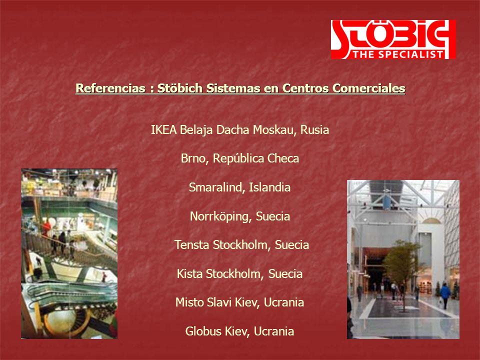 Globus Kiev, Ucrania Sistemas flexibles Referencias : Stöbich Sistemas en Centros Comerciales