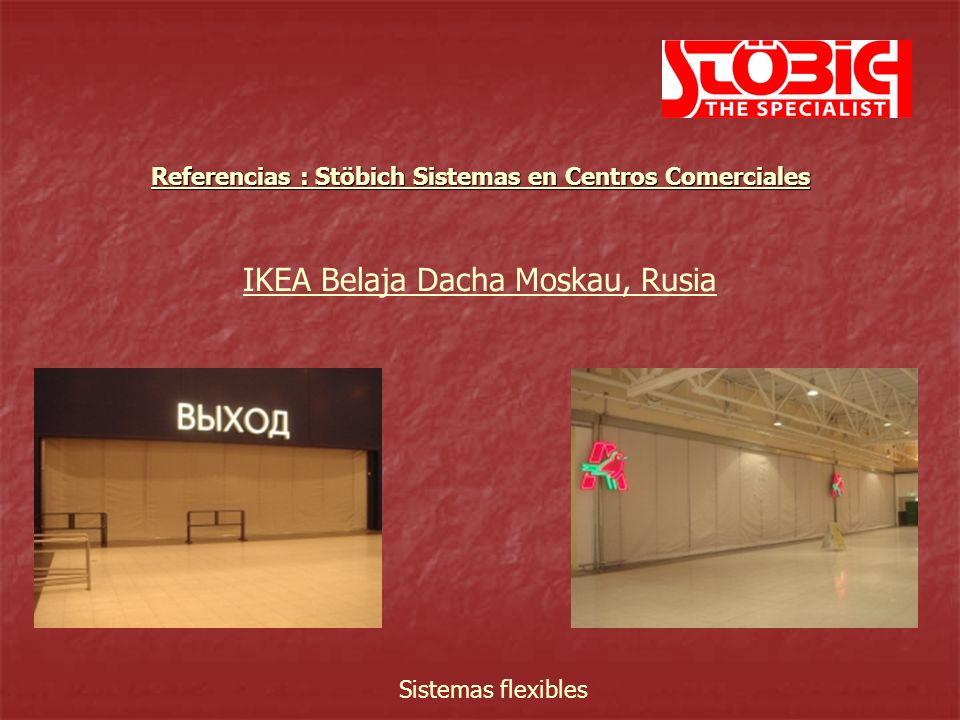 Brno, República Checa Sistemas flexibles Referencias : Stöbich Sistemas en Centros Comerciales