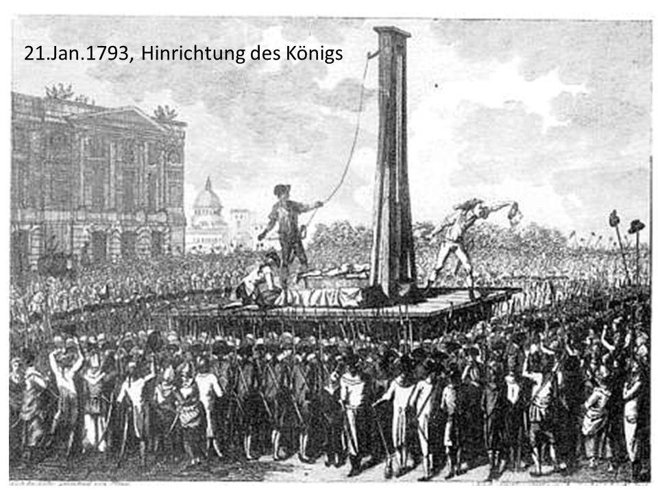 21.Jan.1793, Hinrichtung des Königs