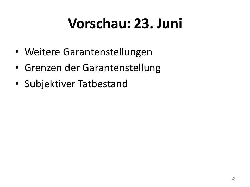 Vorschau: 23.