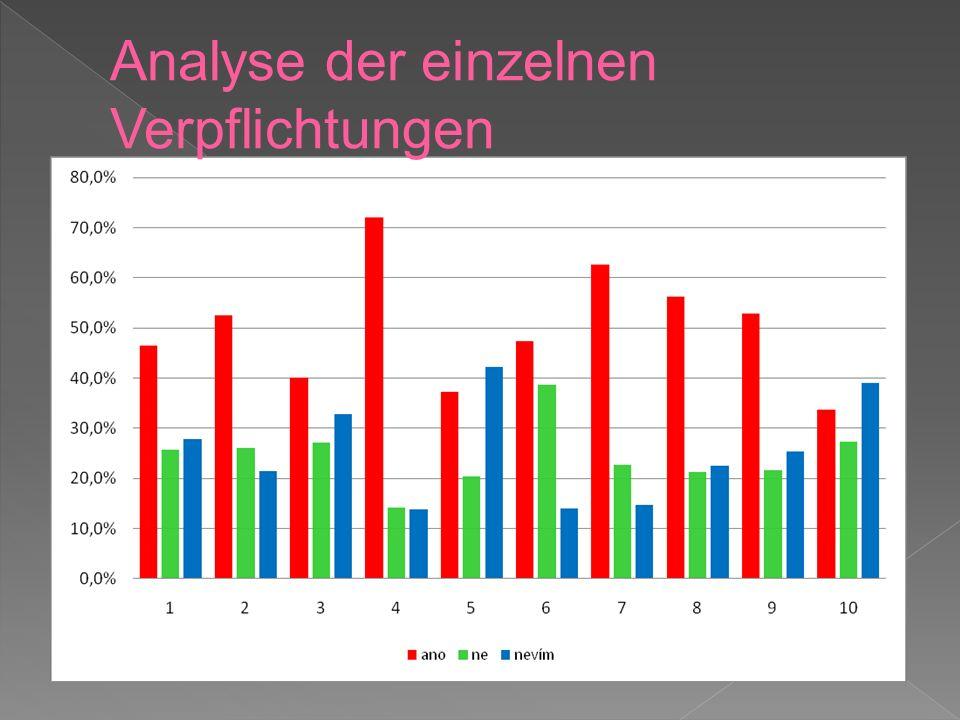 Analyse der einzelnen Verpflichtungen