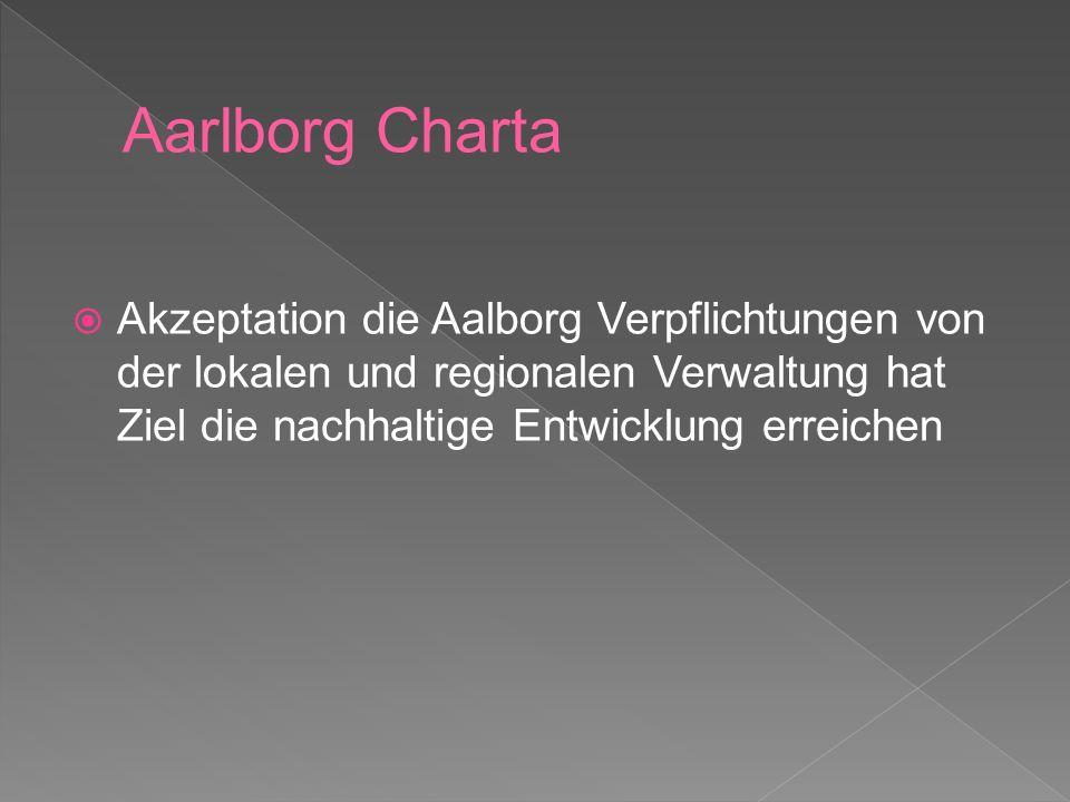 1.Die Verwaltung der öffentlichen Sachen 2. Lokale Leitung zur nachhaltigen Entwicklung 3.