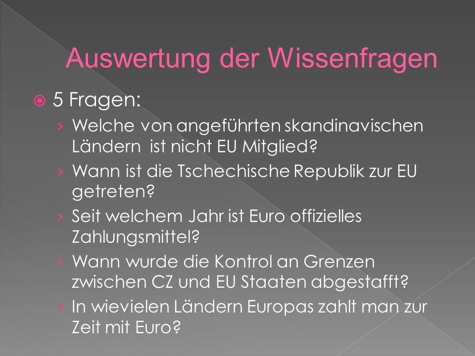  5 Fragen: › Welche von angeführten skandinavischen Ländern ist nicht EU Mitglied.