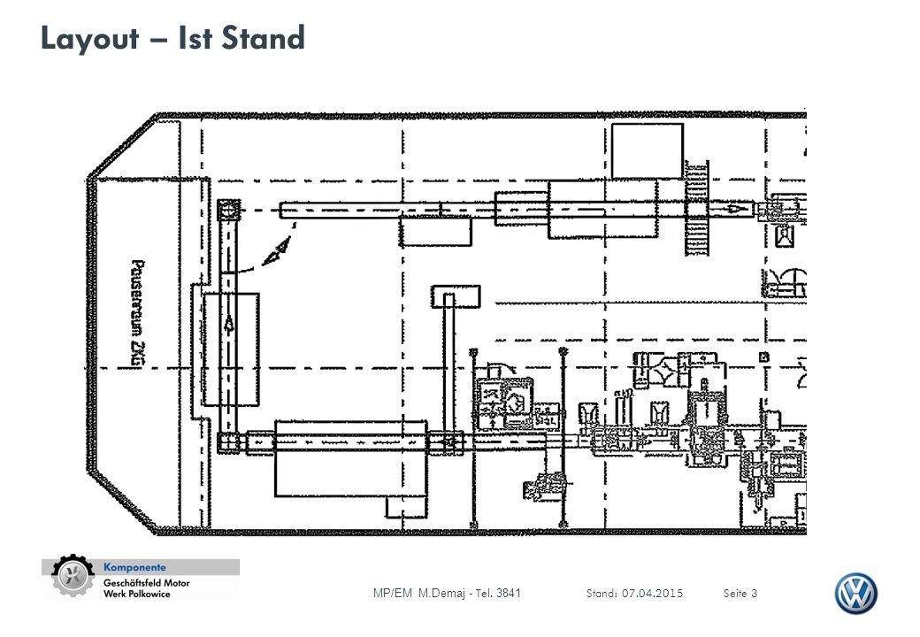 Layout – Ist Stand MP/EM M.Demaj - Tel. 3841 Stand: 07.04.2015Seite 3