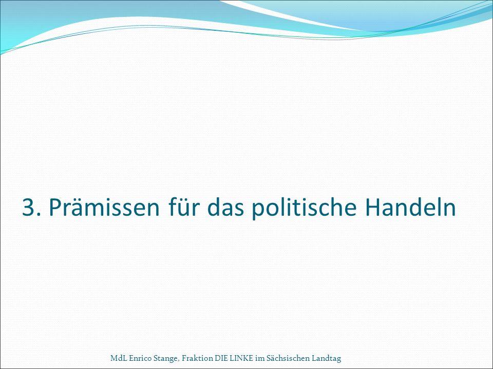 3. Prämissen für das politische Handeln