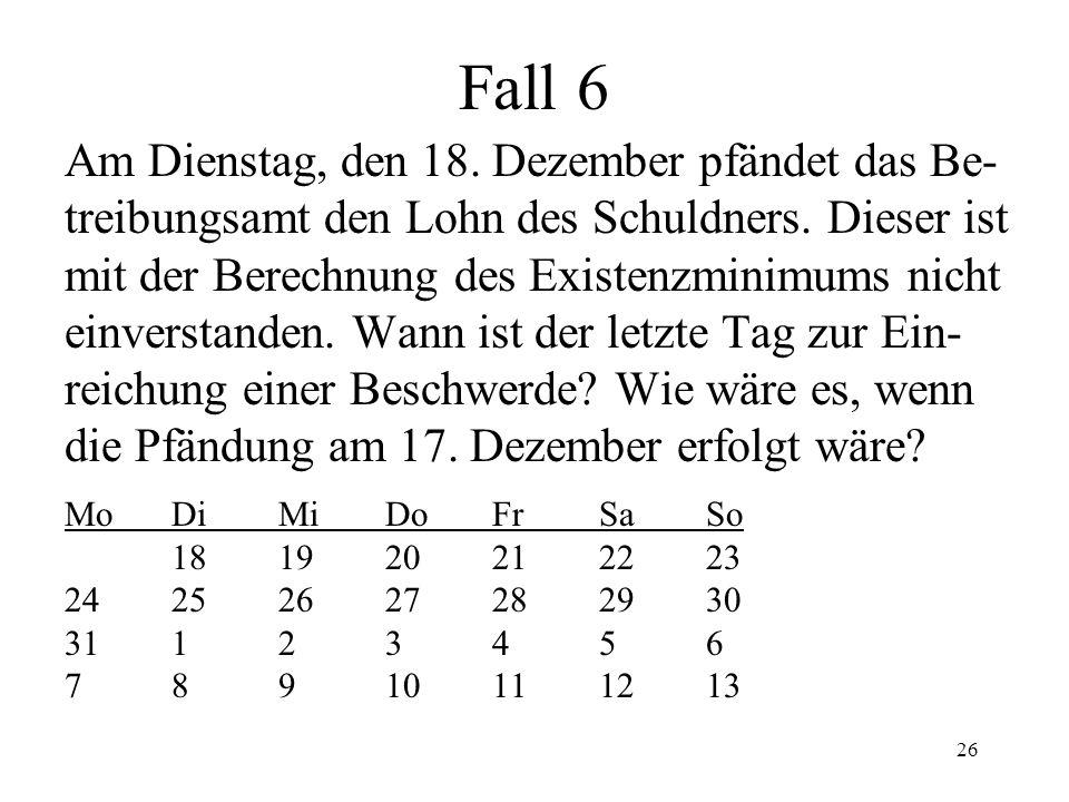 25 Zeit in der Betreibung (3) Betreibungsverbot Nur bez.