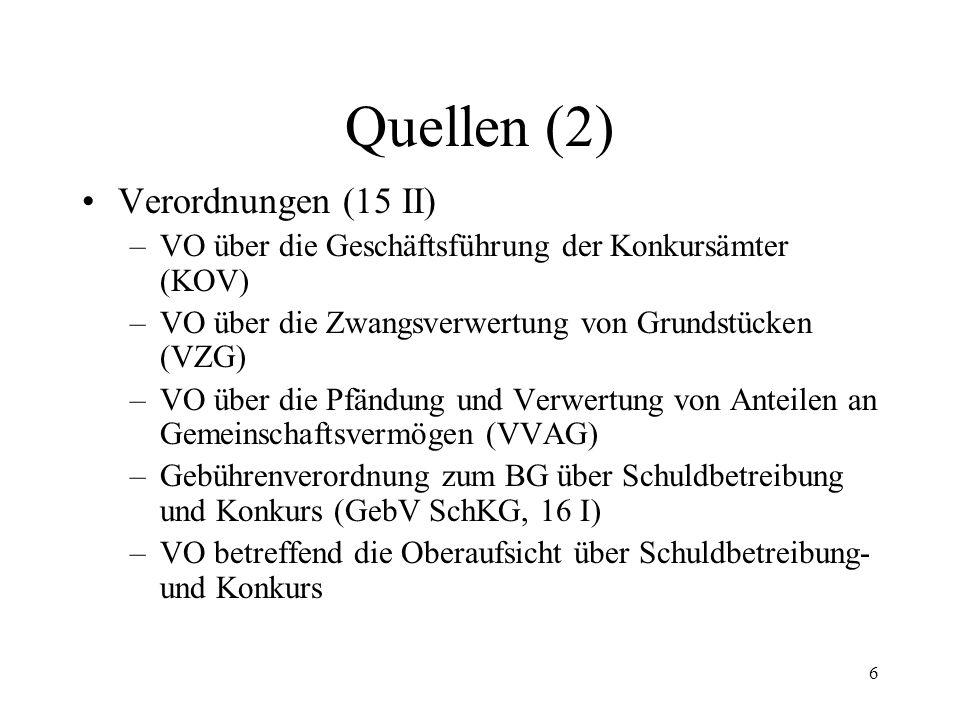 5 4. Quellen Art. 64 Abs. 1 aBV, Art.