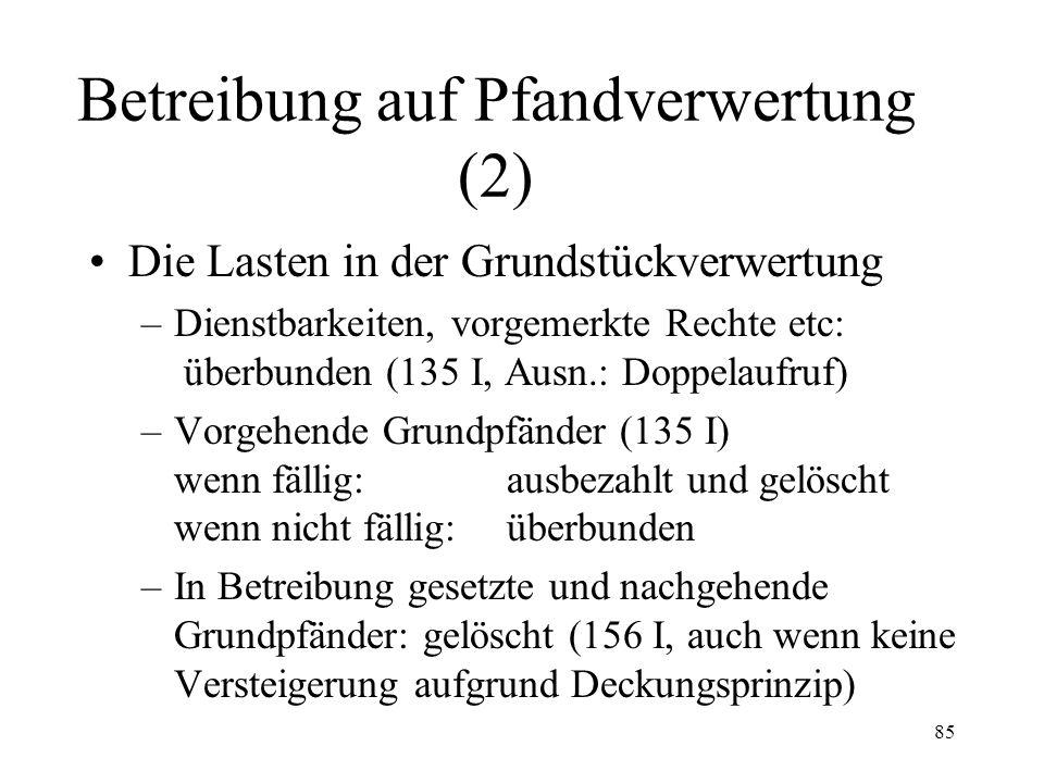 84 Fall 23 Die Bank B hat dem Schuldner S ein durch einen Schuldbrief gesichertes Darlehen über Fr.