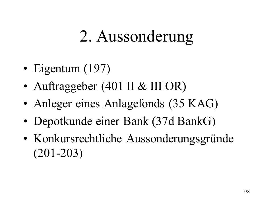 97 Fall 27 Kurz nach der Konkurseröffnung hat der Schuldner von seiner Tante ein Haus in Lörrach (D) geerbt.