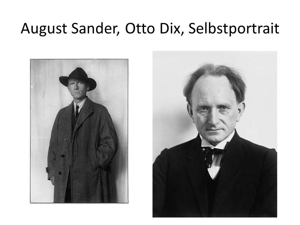 August Sander, Otto Dix, Selbstportrait