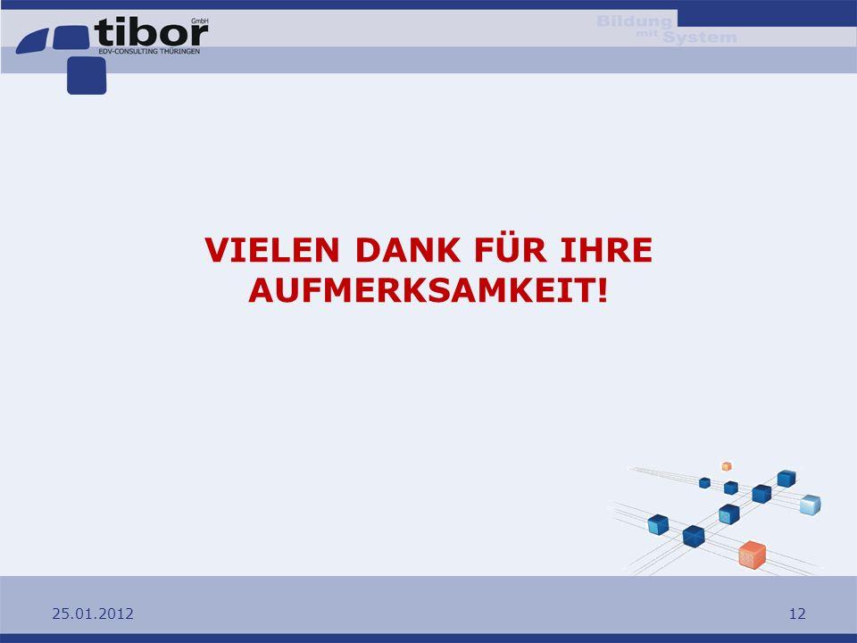 25.01.201212 VIELEN DANK FÜR IHRE AUFMERKSAMKEIT!