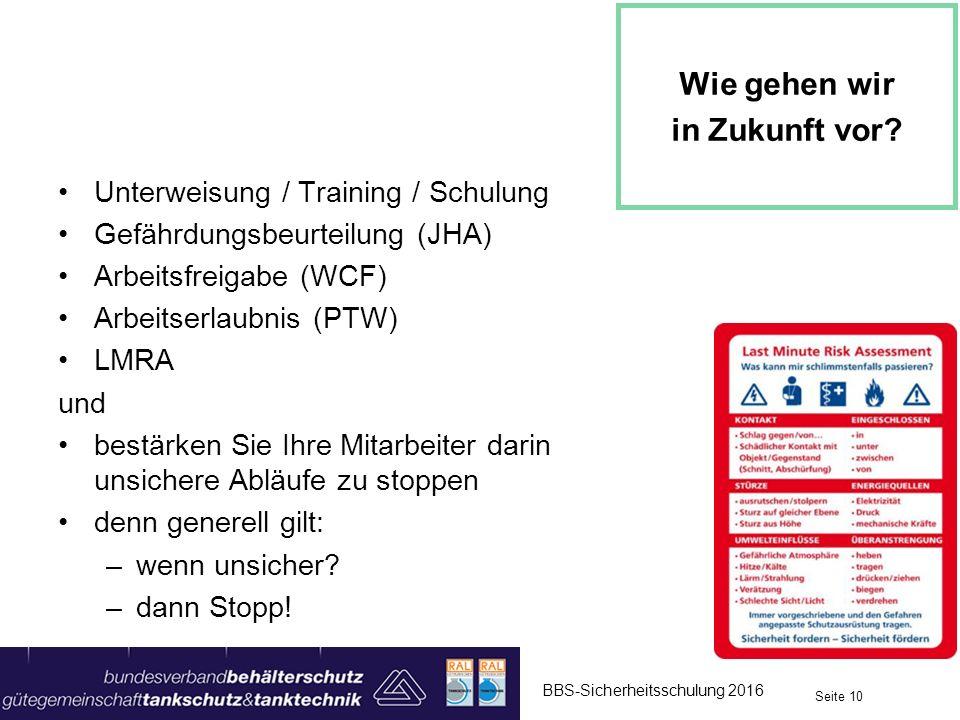 Unterweisung / Training / Schulung Gefährdungsbeurteilung (JHA) Arbeitsfreigabe (WCF) Arbeitserlaubnis (PTW) LMRA und bestärken Sie Ihre Mitarbeiter d