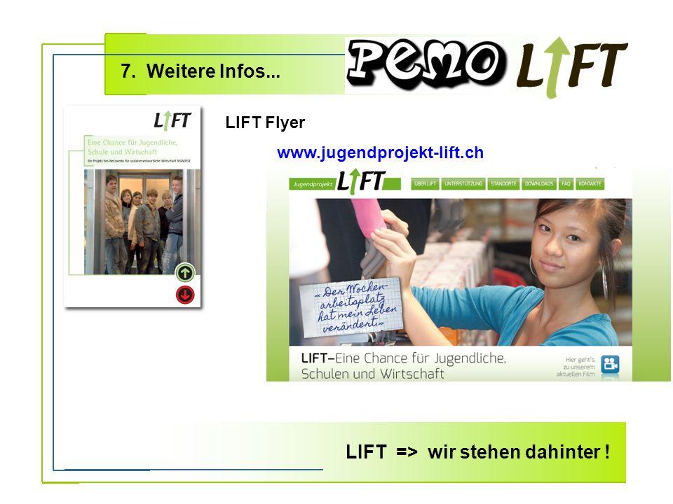 7. Weitere Infos... LIFT => wir stehen dahinter .