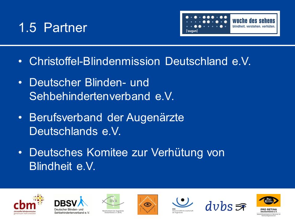 1.5 Partner Christoffel-Blindenmission Deutschland e.V.