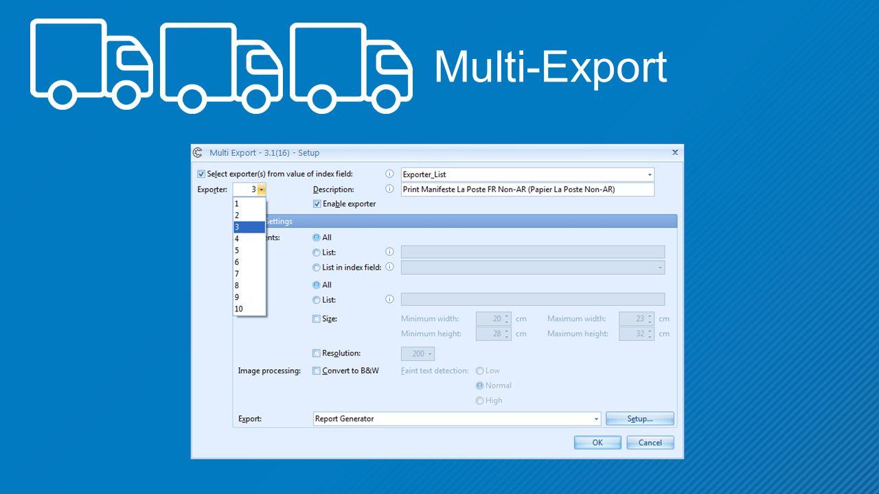 Multi-Export
