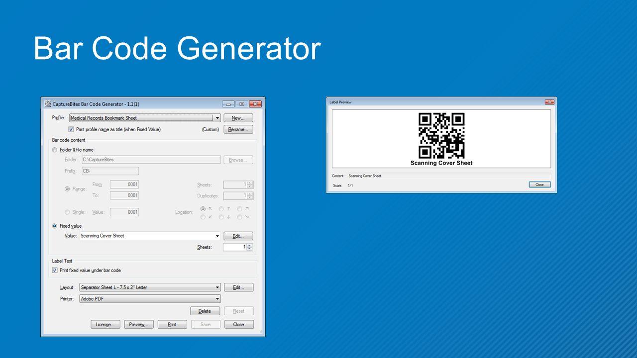Bar Code Generator