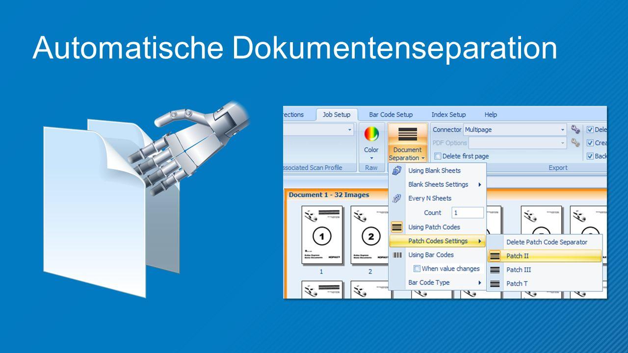 Automatische Dokumentenseparation