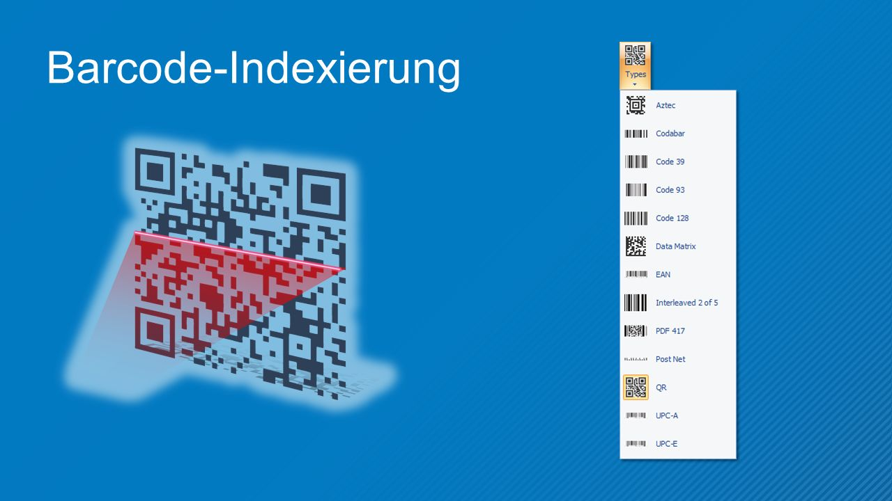 Barcode-Indexierung