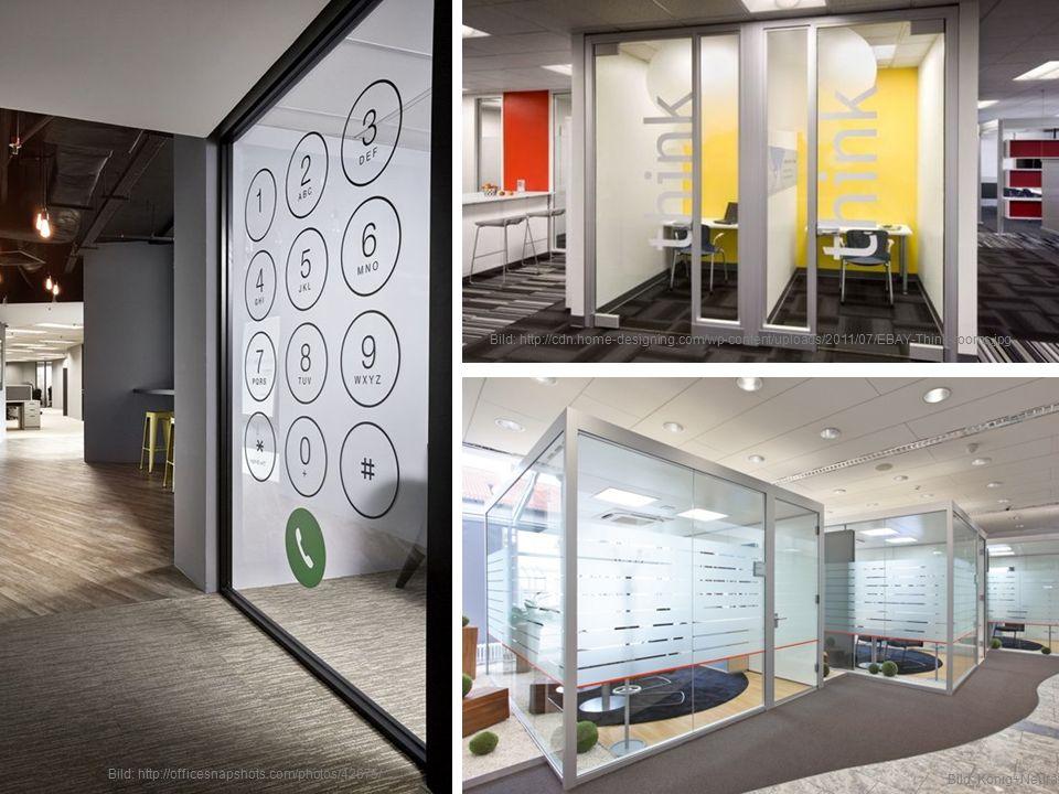 Je offener ein Büro ist, um so wichtiger ist es, ausreichend Rückzugsmöglichkeiten zu schaffen.