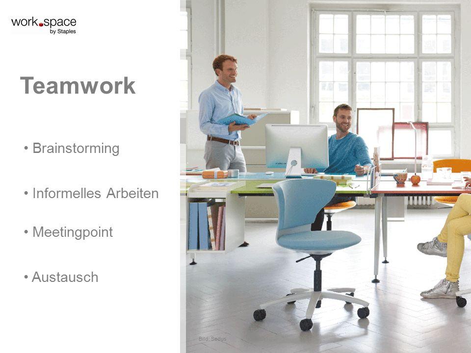 Brainstorming Informelles Arbeiten Teamwork Meetingpoint Bild: Sedus Austausch