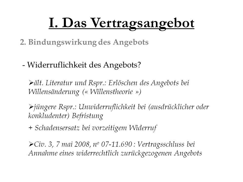 II.Der Vertragsinhalt 2. Abkehr von der cause . Art.