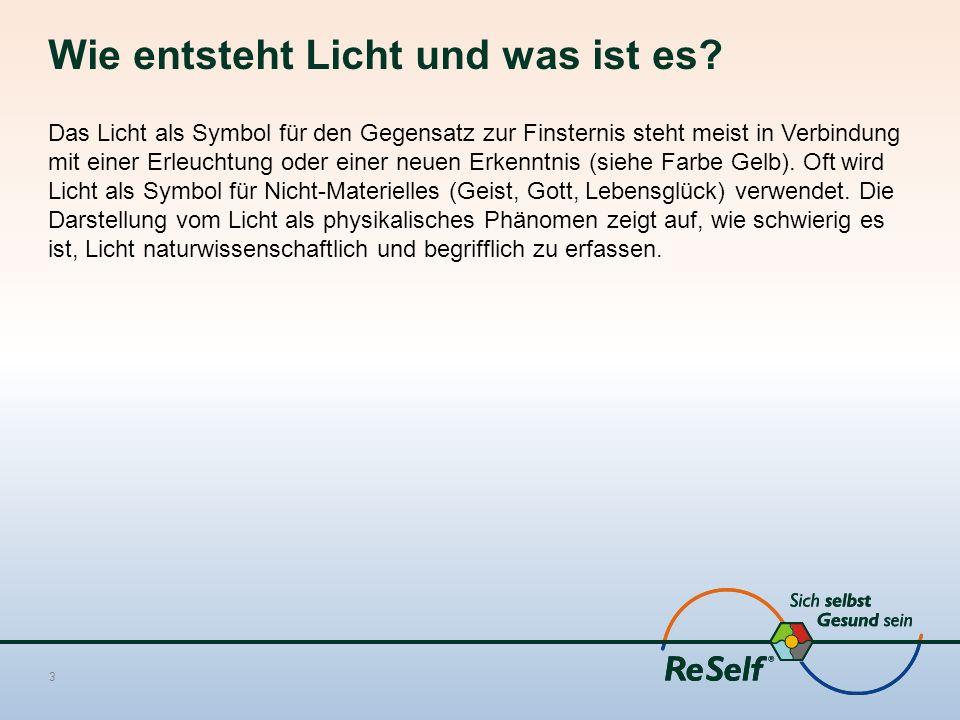 Licht als Steuerungs- und Ordnungsfaktor im Organismus Der österreichische Physiker Erwin Schrödinger wies schon vor vielen Jahrzehnten darauf hin, dass es bei Lebensmittelqualität nicht darauf ankommt, den Verbraucher mit Energie zu versorgen, sonst könnte er auch Unmengen von Nitroglyzerin zu sich nehmen.