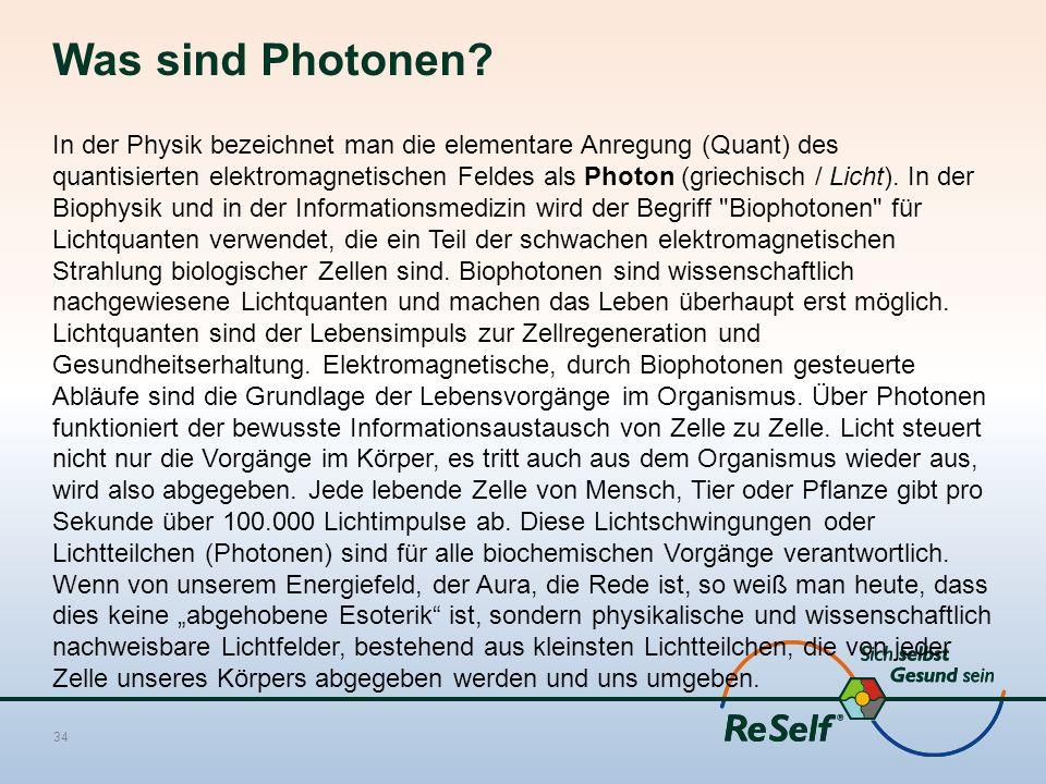 Was sind Photonen? In der Physik bezeichnet man die elementare Anregung (Quant) des quantisierten elektromagnetischen Feldes als Photon (griechisch /