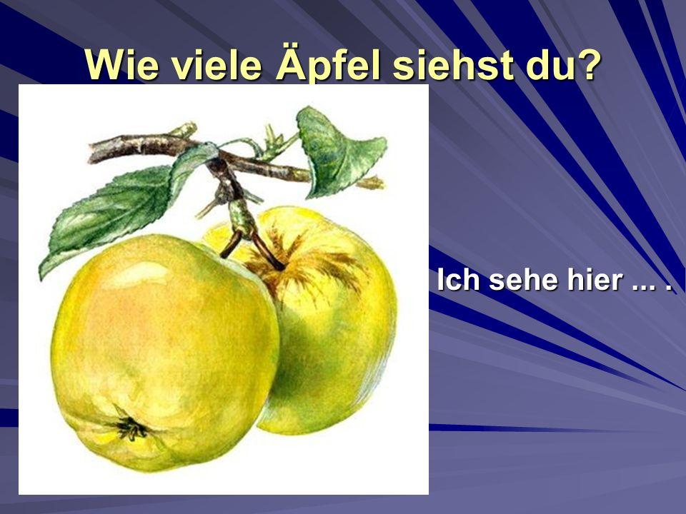 Wie viele Äpfel siehst du? Ich sehe hier....