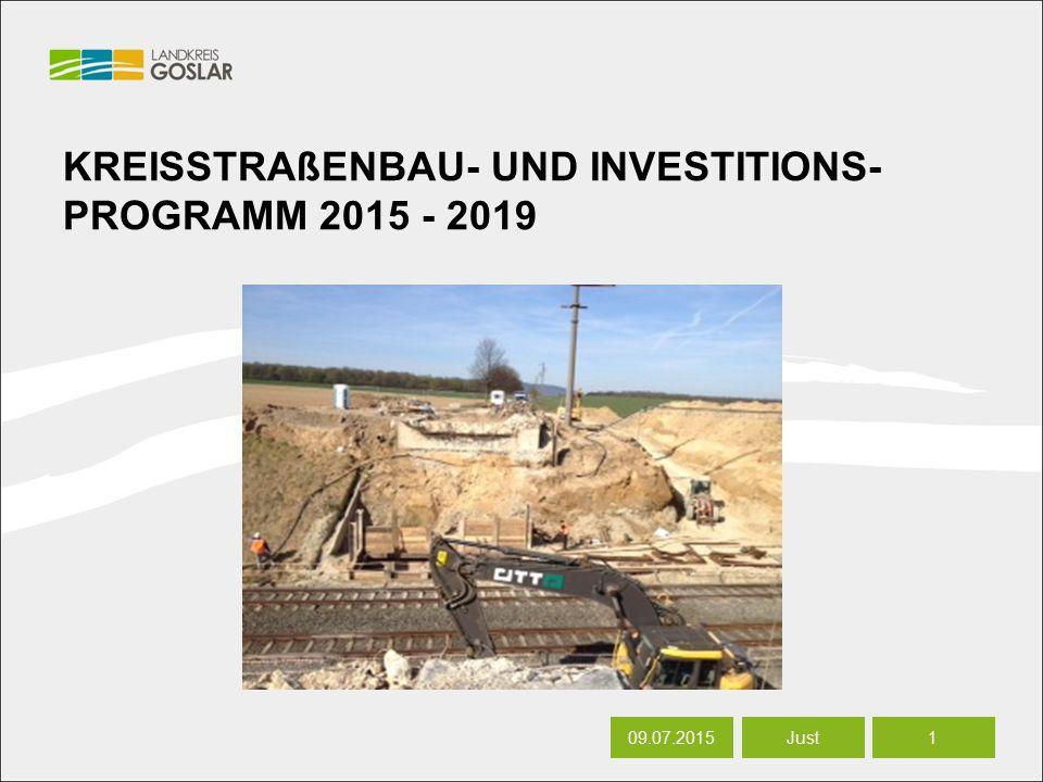 06.07.20161 Autor KREISSTRAßENBAU- UND INVESTITIONS- PROGRAMM 2015 - 2019 09.07.20151 Just