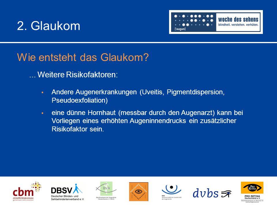 2.Glaukom Wie entsteht das Glaukom?...