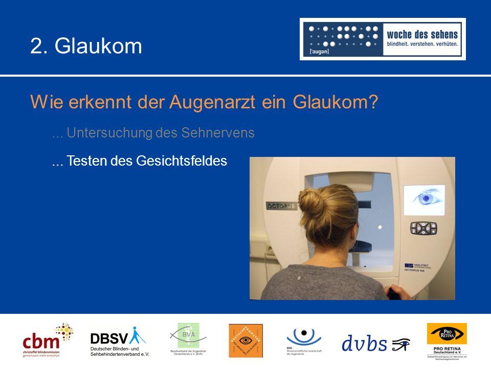 2.Glaukom Wie erkennt der Augenarzt ein Glaukom?...
