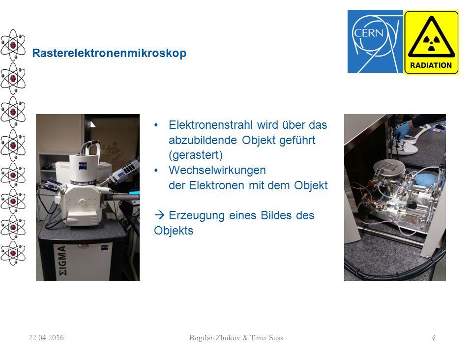Rasterelektronenmikroskop Elektronenstrahl wird über das abzubildende Objekt geführt (gerastert) Wechselwirkungen der Elektronen mit dem Objekt  Erze