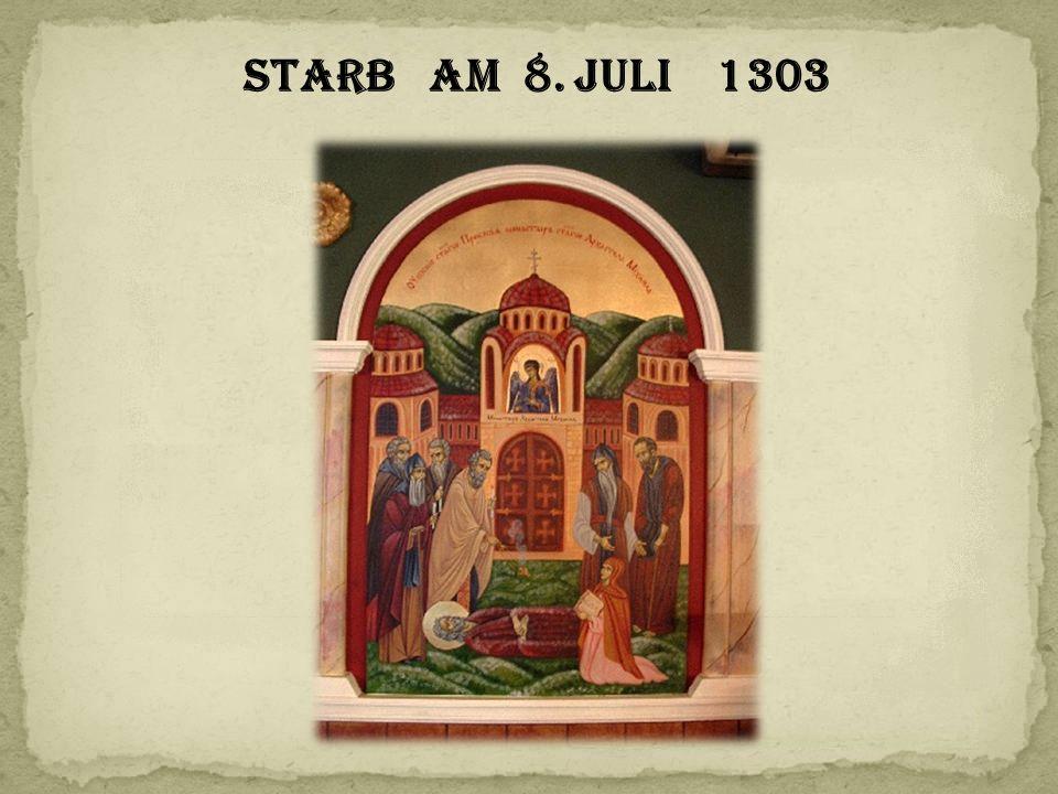 starb am 8. Juli 1303