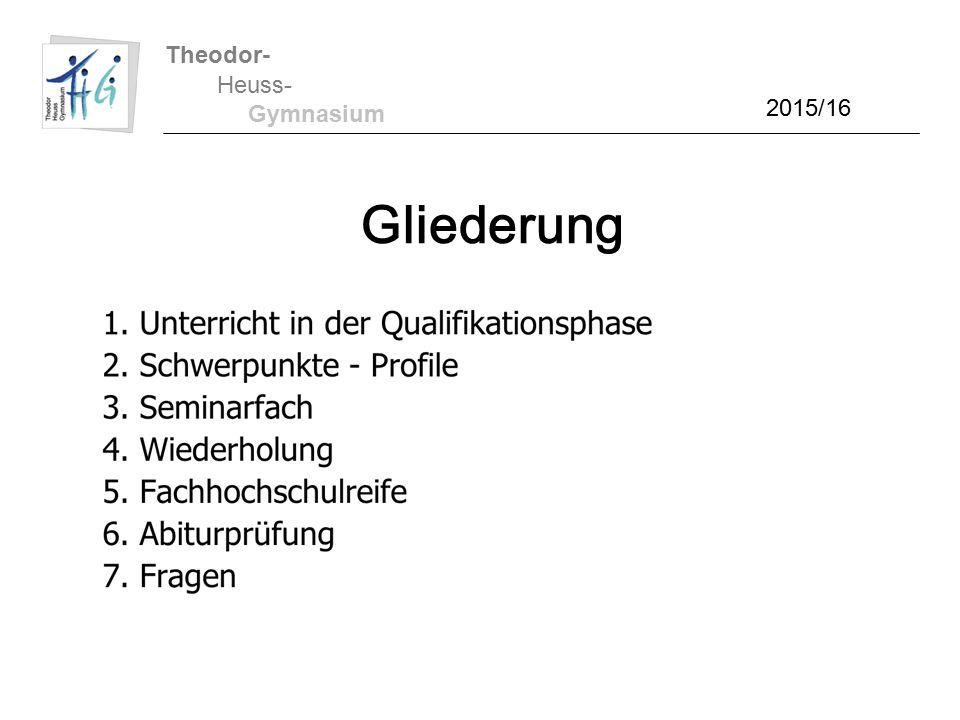 Theodor- Heuss- Gymnasium 1.