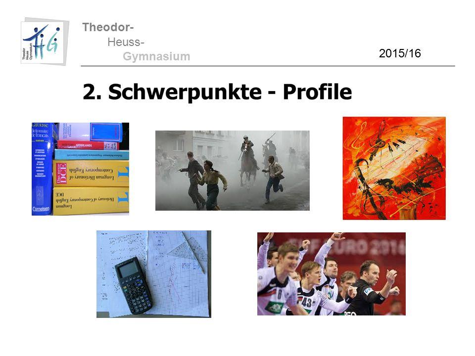Theodor- Heuss- Gymnasium 2015/16 Belegungsverpflichtungen
