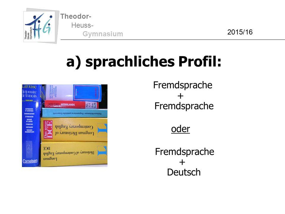 Theodor- Heuss- Gymnasium 2015/16