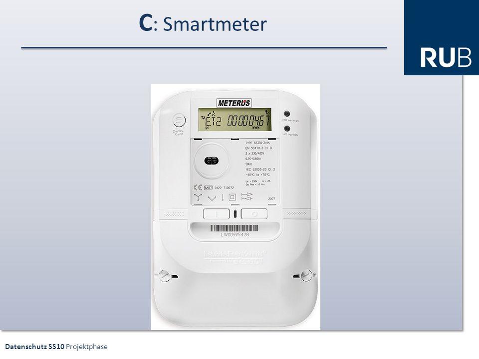 Datenschutz SS10 Projektphase C : Smartmeter