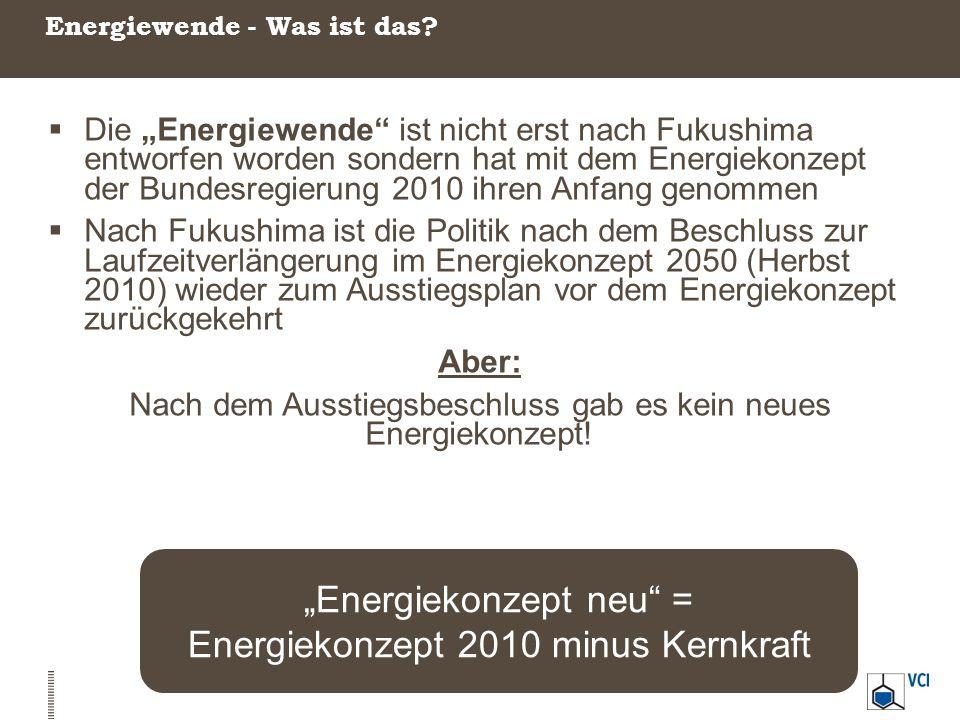 """Energiewende - Was ist das?  Die """"Energiewende"""" ist nicht erst nach Fukushima entworfen worden sondern hat mit dem Energiekonzept der Bundesregierung"""